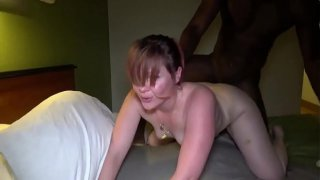 CHUBBY REDHEAD CREAMPIED BY A BBC