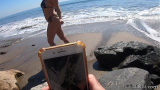 Fucking the blonde beach babe I helped to take selfies  Matthias Christ