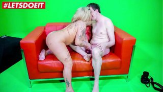 LETSDOEIT  Petite Chubby German Wife Calls Her Lover For a Quick Fuck