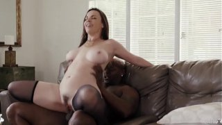 Babe in stockings lingeries gets BBC