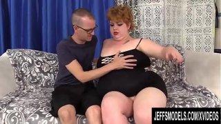 Fat Redhead Velma Voodoo Blows and Fucks a Skinny Dude