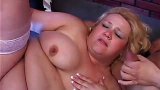 Beautiful BBW Britany loves to get spit roasted