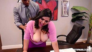 BBW Latina Office Slut Gets Fucked By Boss on Desk