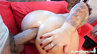 Busty BBW MILF Takes Shane Diesel Deep in Her Ass