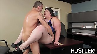 BBW goddess Bella Bendz bent over and smashed passionately