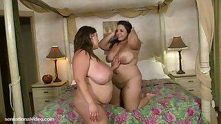 BBW Lesbians Kacey Parker N Jane Kush Lick Pussy