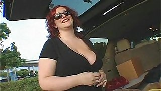 Sexy Redehad Wife Fucks Bag Boy from Grocery Store
