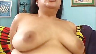 Pigtailed Asian plumper Tyung Lee bangs a bald guy