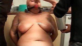 Bizarre BDSM action with fat piggy slut