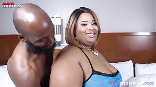 ssbbw Fancii takes all of Slick Punishers big cock