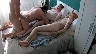 first time being fucked by two the fat pig is a lot unneasy but let her body be used