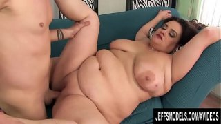 Horny BBW Allison Broadway Takes a Long Cock in Her Mouth and Pussy