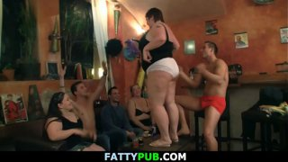 Huge tits group sex party